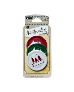 Dekorative Deckel für Ball Jars - Tannenbäume - American Heritage