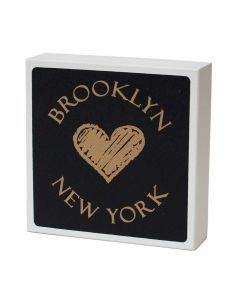 Holzschild Brooklyn New York