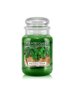Country Candle Jar Balsam & Cedar Large von Kringle Candle bei American Heritage