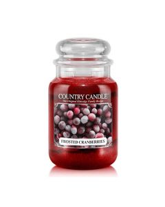 Country Candle Jar Frosted Cranberries Large von Kringle Candle bei American Heritage