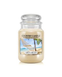 Country Candle Jar Life's A Beach Large von Kringle Candle bei American Heritage