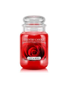 Country Candle Jar Love & Roses Large von Kringle Candle bei American Heritage