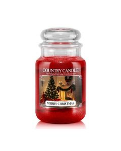 Country Candle Jar Merry Christmas Large von Kringle Candle bei American Heritage