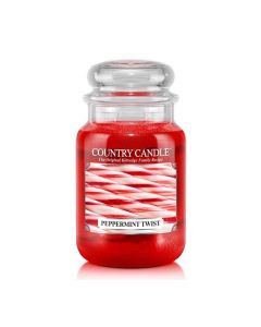 Country Candle Jar Peppermint Twist Mini von Kringle Candle bei American Heritage