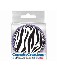 Cupcake Backförmchen Purple Zebra von Cupcake Creations