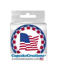 Cupcake Backförmchen Stars & Stripes