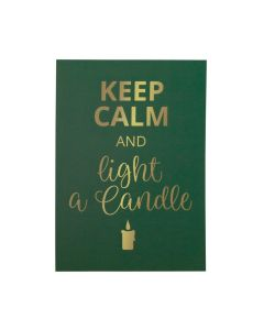 Keep Calm and light a Candle Grußkarte