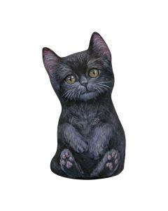 Schwarze Kätzchen Türstopper vorne