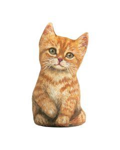 Orange Kätzchen Tabby Türstopper vorne