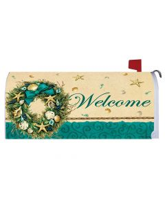 Coastal Wreath Mailbox Cover bei American Heritage
