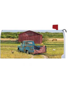 Summer Truck Mailbox Cover