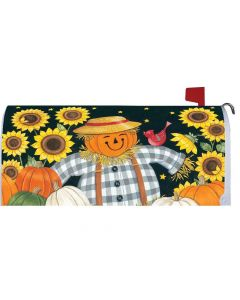 Sunflower Scarecrow Mailbox Cover