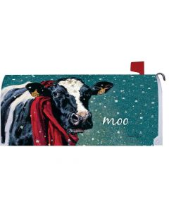 Winter Cow Mailbox Cover