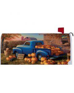 Pumpkin Truck Mailbox Cover