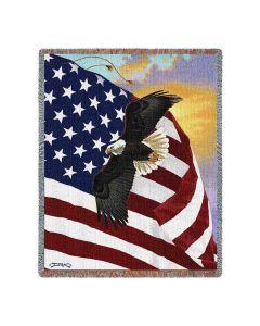 Majestic Eagle Baumwolldecke bei American Heritage
