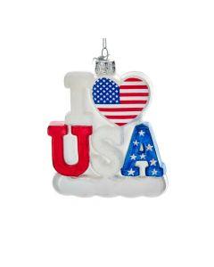 Weihnachtsbaumschmuck I Love USA von American Heritage