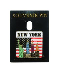 New York Iconic Buildings Pin