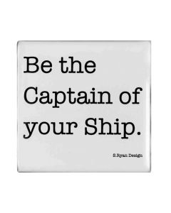 """Magnet """"Be the captain of your ship"""" von American Heritage"""