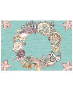 Seashell Wreath Placemat Muschelkranz Tischset von American Heritage