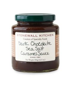 Dark Chocolate Sea Salt Caramel Topping Sauce