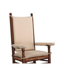 Polster creme-weiß für Kennedy-Schaukelstuhl von Troutman Chairs bei American Heritage