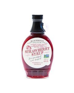 Strawberry Syrup von Blackberry Patch in der Glasflasche (236 ml) - Erdbeersirup