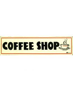 Coffee Shop Metallschild