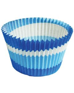 JUMBO Cupcake Backförmchen Blue Circle von Cupcake Creations