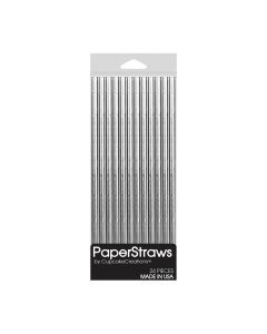 Cupcake Creations Paper Straws Silver Solid bei American Heritage
