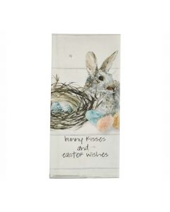 Bunny Kisses and Easter Wishes Geschirrtuch