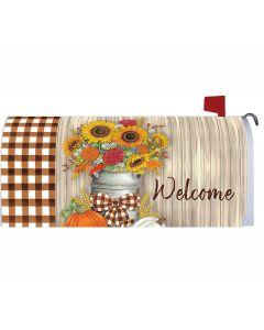Herbstliches Welcome-Mailbox Cover mit Sonnenblumen von American Heritage