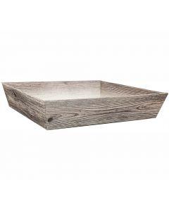 Pappschachtel in Holzoptik für Geschenkkörbe