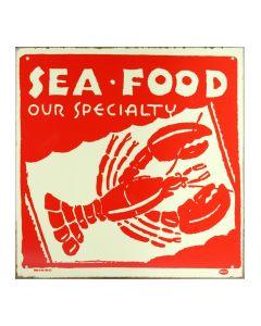 Seafood Metallschild
