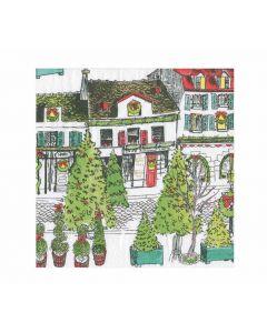 Servietten Caspari Vintage Village Christmas Weihnachten