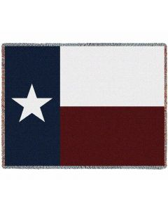 Texas Flag Gewebte Baumwolldecke