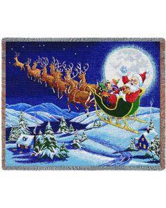 Christmas Magic Gewebte Baumwolldecke (100% Baumwolle) American Heritage