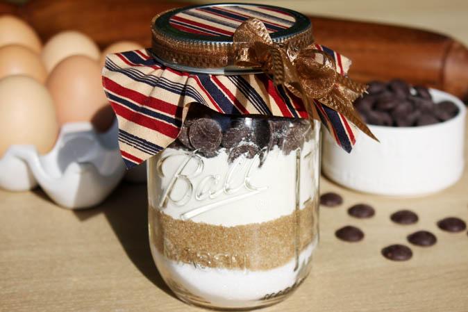 Rezept für Chocolate Chip Cookies im Ball Jar