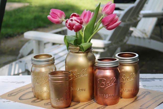 American Heritage ist kreativ: Goldene Ball Jars zum Selbermachen!