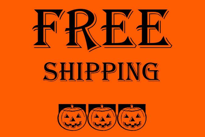Versandkostenfrei bestellen ab einem Einkaufswert von 25 Euro am Halloweenwochenende 2015