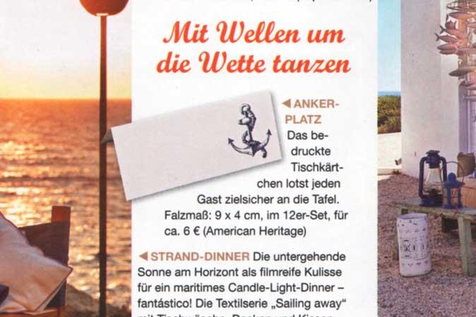 Lässiger Beach-Style mit Tischkarten von American Heritage