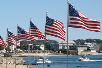 USA-Flaggen