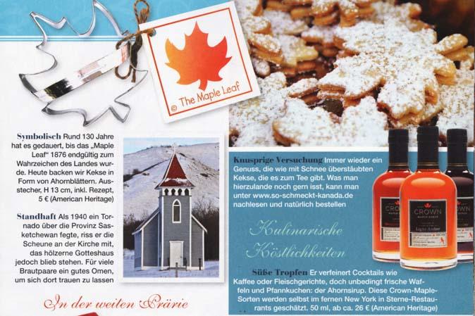 Ahornblatt-Keksausstecher und Crown Maple-Ahornsirup von American Heritage