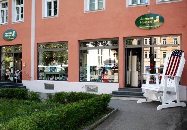 Schaufenster von American Heritage in München