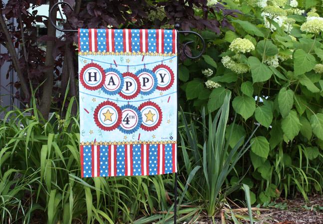 Happy 4th July Gartenfahne