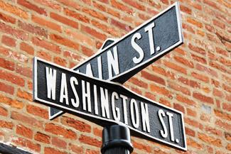 Washington St.- Schild