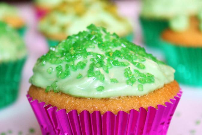 Grüner Cupcake zum St. Patrick's Day