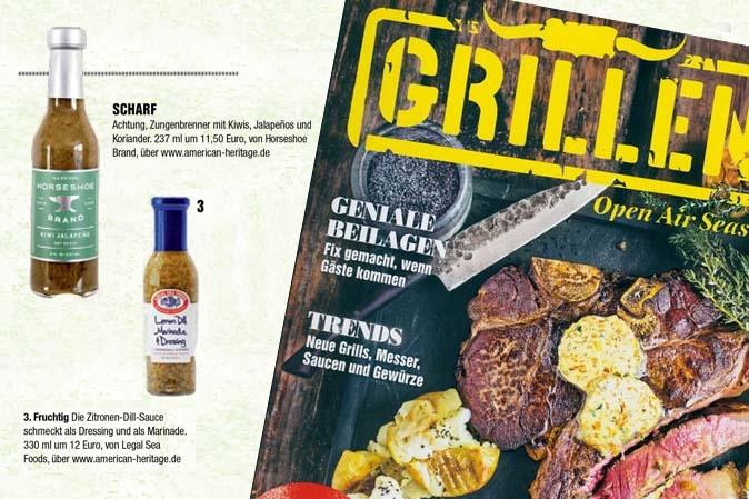 Magazin Grillen empfiehlt Saucen von American Heritage