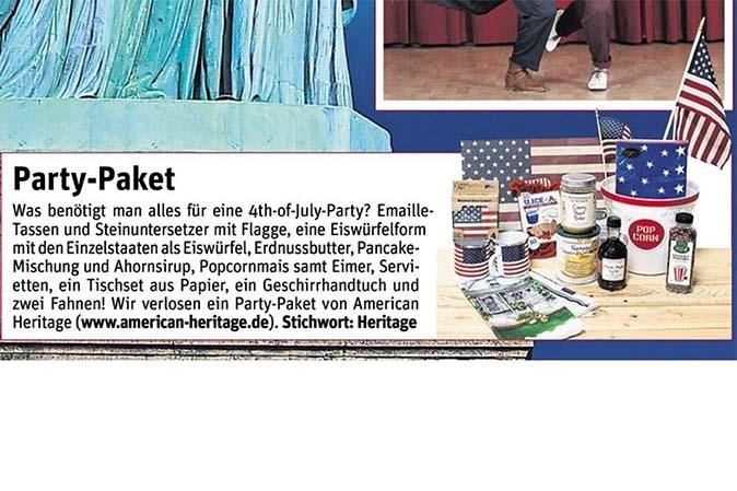 Hallo München Gewinnspiel mit American Heritage