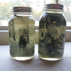 Mason Jar Bilderrahmen