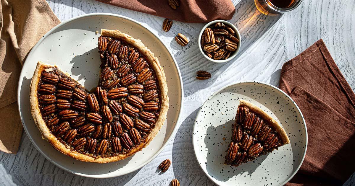 Pekannuss Pie mit Ahornsirup
